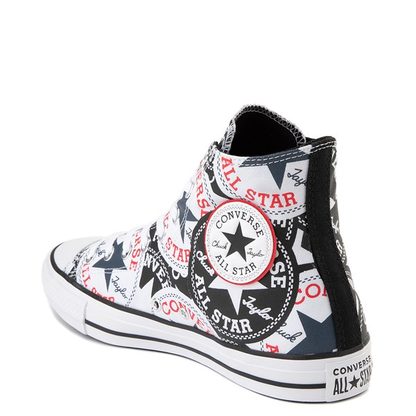 alternate view Converse Chuck Taylor All Star Hi Twisted Patches Sneaker - Black / WhiteALT2