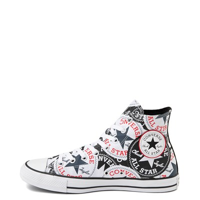 Alternate view of Converse Chuck Taylor All Star Hi Twisted Patches Sneaker - Black / White