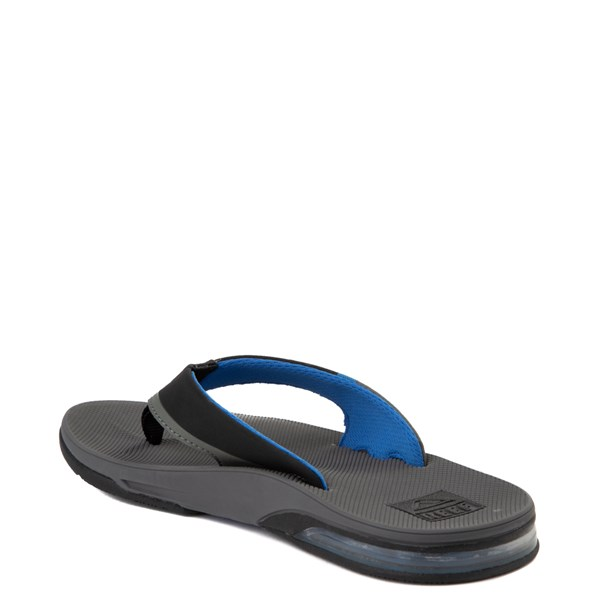 alternate view Mens Reef Fanning Sandal - Gray / BlueALT2
