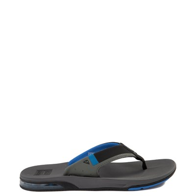 Main view of Mens Reef Fanning Sandal - Gray / Blue