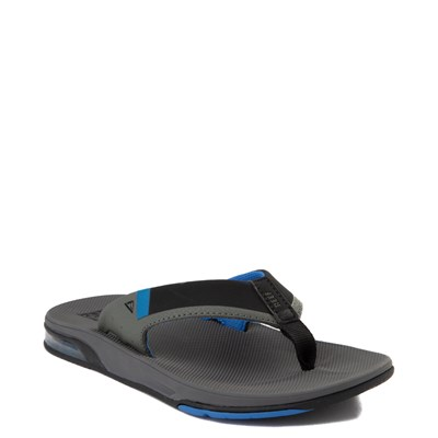 Alternate view of Mens Reef Fanning Sandal - Gray / Blue
