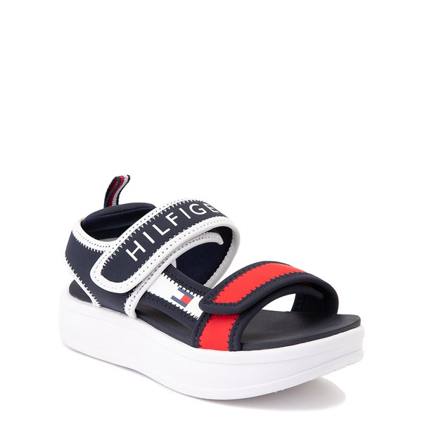 alternate view Tommy Hilfiger Leomi Platform Sandal - Little Kid / Big Kid - Navy / Red / WhiteALT1