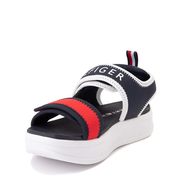 alternate view Tommy Hilfiger Leomi Platform Sandal - Little Kid / Big Kid - Navy / Red / WhiteALT3