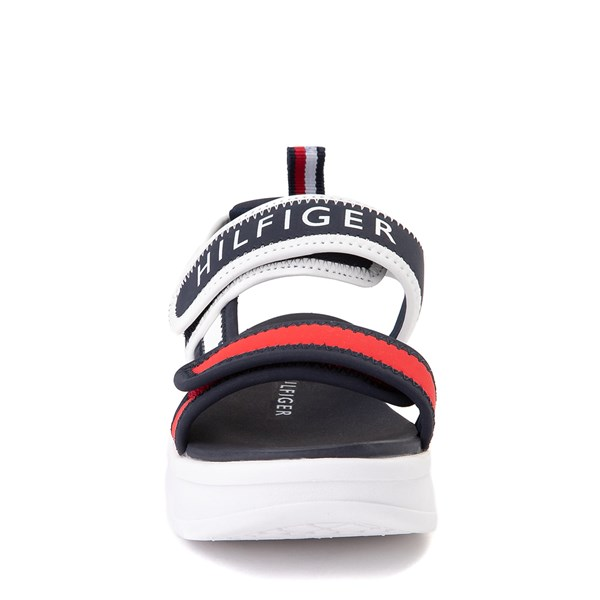 alternate view Tommy Hilfiger Leomi Platform Sandal - Little Kid / Big Kid - Navy / Red / WhiteALT4