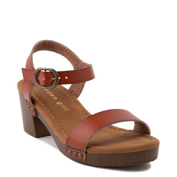 alternate view Madden Girl Mooneey Heel Sandal - Little Kid / Big Kid - CognacALT1
