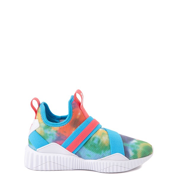 Main view of Puma Defy Mid Tie Dye Athletic Shoe - Little Kid / Big Kid - Multi