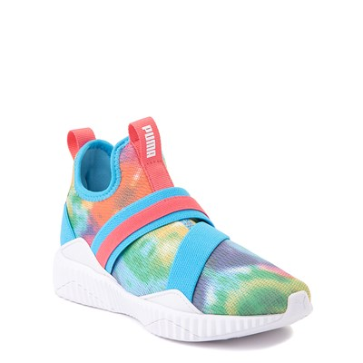 Alternate view of Puma Defy Mid Tie Dye Athletic Shoe - Little Kid / Big Kid - Multi