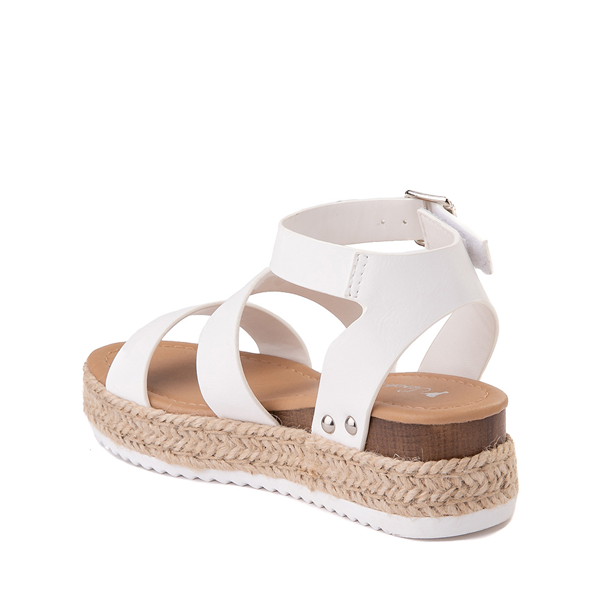 alternate view Sarah-Jayne Bryce Platform Sandal - Little Kid / Big Kid - WhiteALT1
