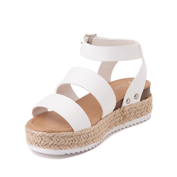 alternate view Sarah-Jayne Bryce Platform Sandal - Little Kid / Big Kid - WhiteALT2
