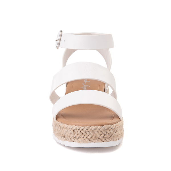 alternate view Sarah-Jayne Bryce Platform Sandal - Little Kid / Big Kid - WhiteALT4