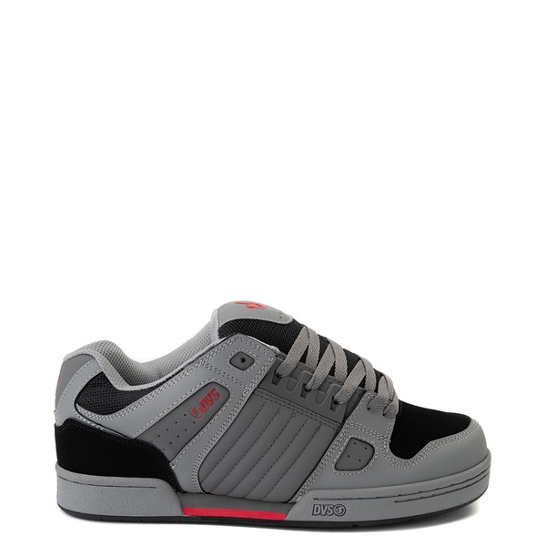 Main view of Mens DVS Celsius Skate Shoe - Charcoal / Gray / Red