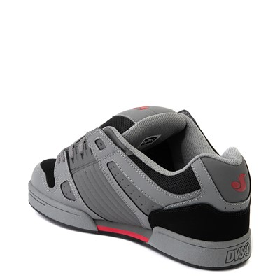 Alternate view of Mens DVS Celsius Skate Shoe - Charcoal / Gray / Red