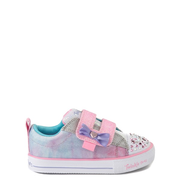 Skechers Twinkle Toes Shuffle Lites Sweet Supply Sneaker - Toddler - Light Pink / Multi