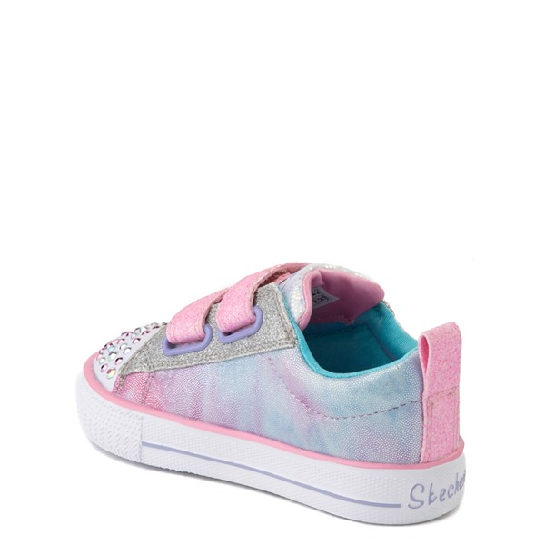 alternate view Skechers Twinkle Toes Shuffle Lites Sweet Supply Sneaker - Toddler - Light Pink / MultiALT1B