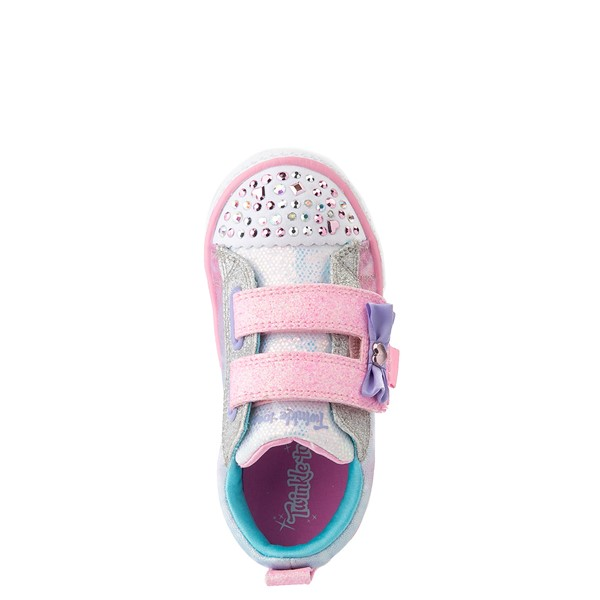 alternate view Skechers Twinkle Toes Shuffle Lites Sweet Supply Sneaker - Toddler - Light Pink / MultiALT2