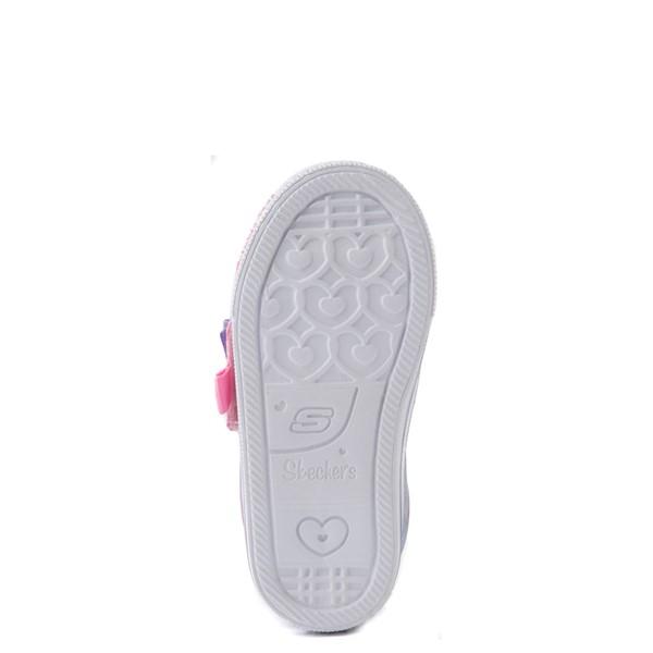 alternate view Skechers Twinkle Toes Shuffle Lites Sweet Supply Sneaker - Toddler - Light Pink / MultiALT3