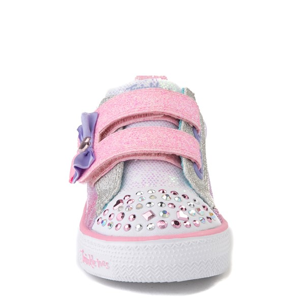 alternate view Skechers Twinkle Toes Shuffle Lites Sweet Supply Sneaker - Toddler - Light Pink / MultiALT4