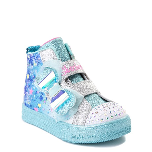 alternate view Skechers Twinkle Toes Shuffle Lites Let It Sparkle Sneaker - Toddler / Little Kid - Blue / MultiALT1B