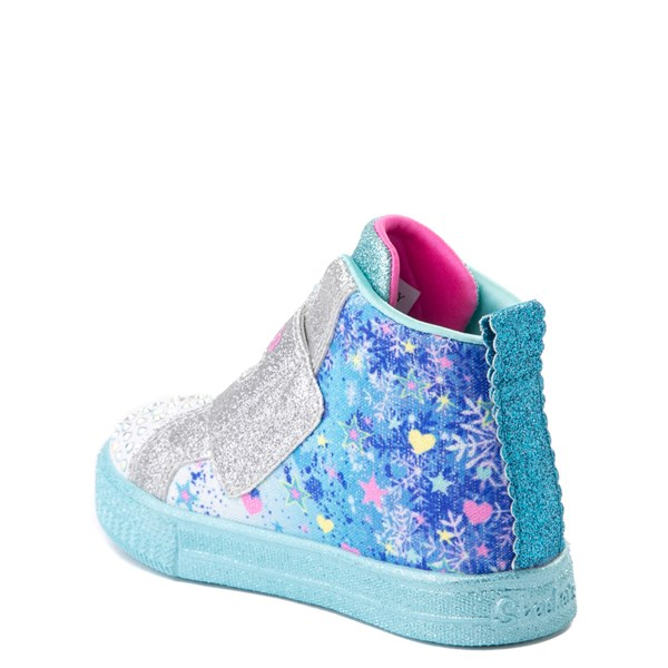 alternate view Skechers Twinkle Toes Shuffle Lites Let It Sparkle Sneaker - Toddler / Little Kid - Blue / MultiALT2