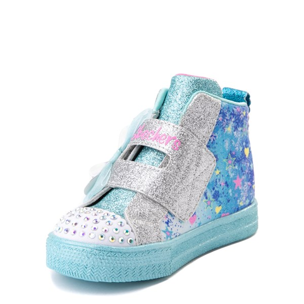 alternate view Skechers Twinkle Toes Shuffle Lites Let It Sparkle Sneaker - Toddler / Little Kid - Blue / MultiALT3