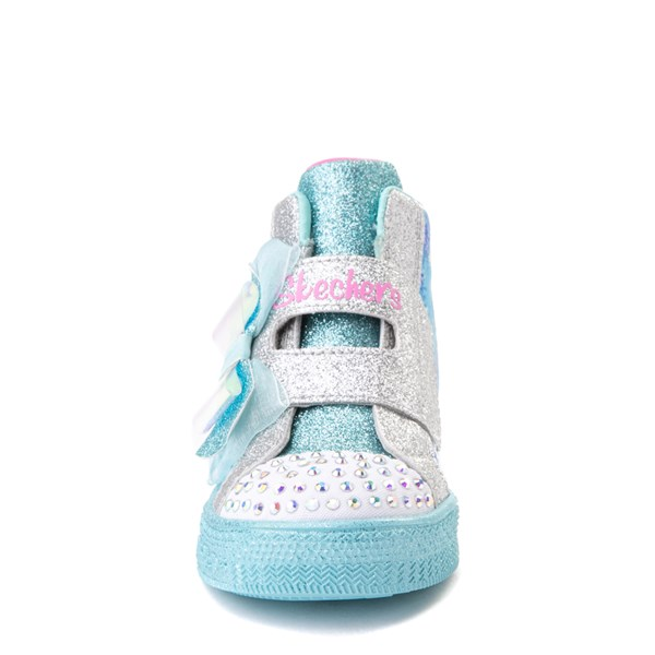alternate view Skechers Twinkle Toes Shuffle Lites Let It Sparkle Sneaker - Toddler / Little Kid - Blue / MultiALT4