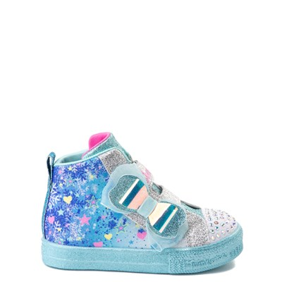 Main view of Skechers Twinkle Toes Shuffle Lites Let It Sparkle Sneaker - Toddler / Little Kid - Blue / Multi
