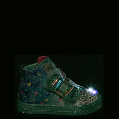 Alternate view of Skechers Twinkle Toes Shuffle Lites Let It Sparkle Sneaker - Toddler / Little Kid - Blue / Multi