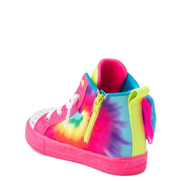 alternate view Skechers Twinkle Toes Shuffle Bow Bright Neon Sneaker - Toddler - MultiALT2