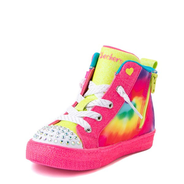 alternate view Skechers Twinkle Toes Shuffle Bow Bright Neon Sneaker - Toddler - MultiALT3