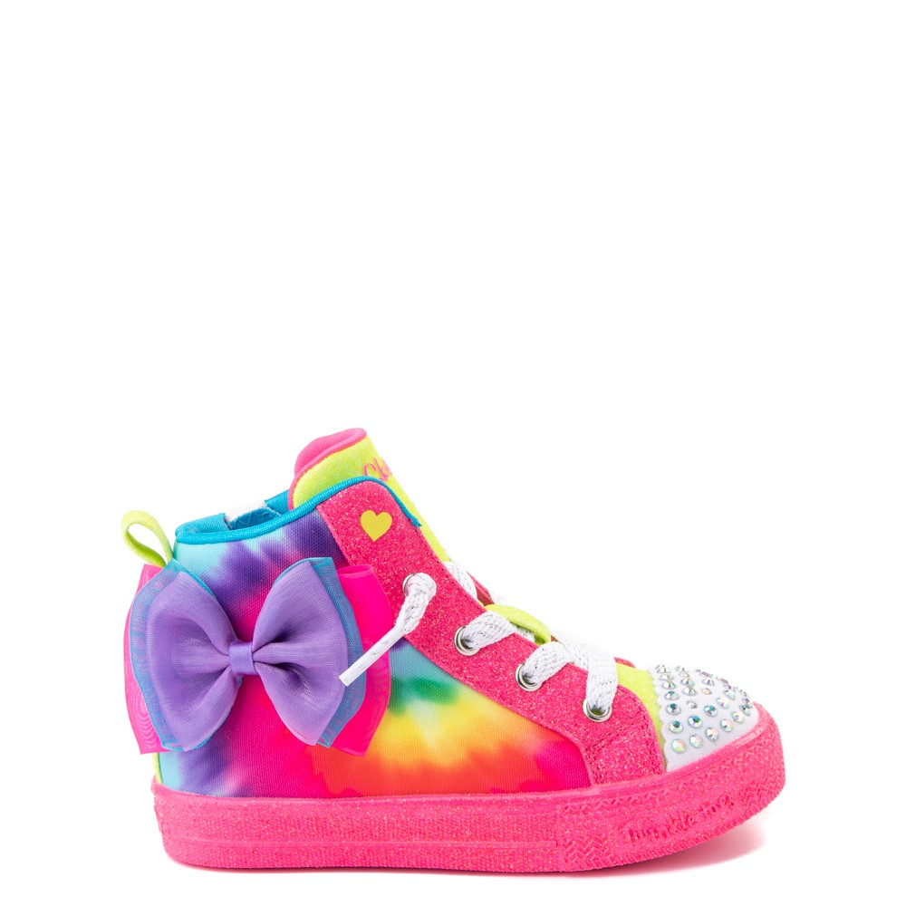 Skechers Twinkle Toes Shuffle Bow Bright Neon Sneaker - Toddler - Multi
