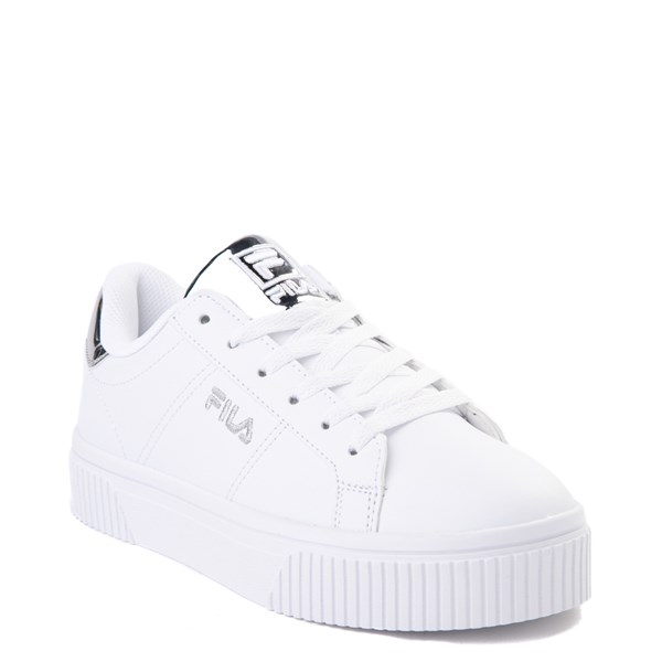 alternate view Womens Fila Panache Platform Athletic Shoe - White / SilverALT1