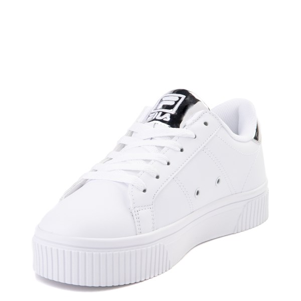 alternate view Womens Fila Panache Platform Athletic Shoe - White / SilverALT3