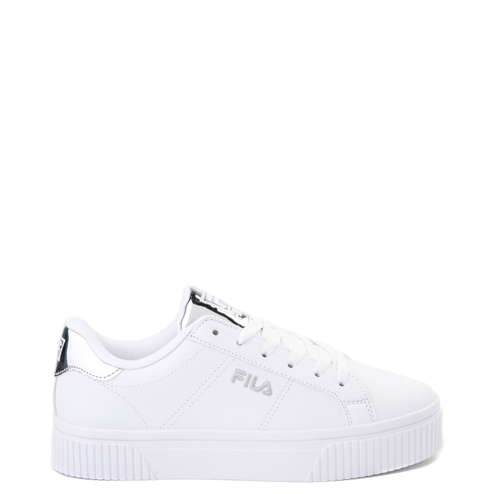 Womens Fila Panache Platform Athletic Shoe White Silver