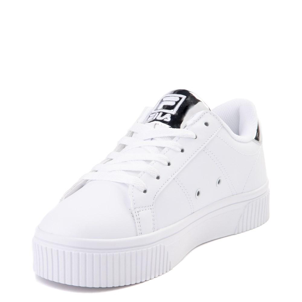 Womens Fila Panache Platform Athletic Shoe White Silver