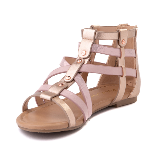 alternate view Sarah Jayne Pebbles Gladiator Sandal - Little Kid / Big Kid - Rose GoldALT2
