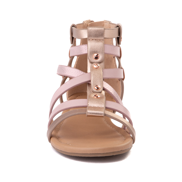 alternate view Sarah Jayne Pebbles Gladiator Sandal - Little Kid / Big Kid - Rose GoldALT4
