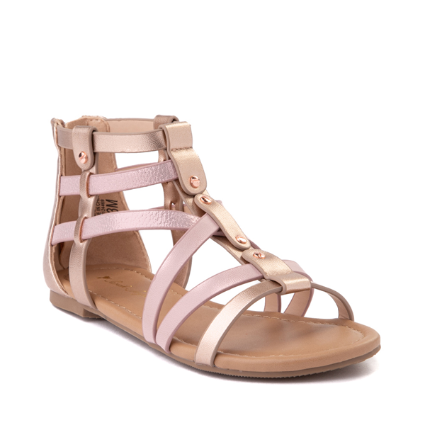 alternate view Sarah Jayne Pebbles Gladiator Sandal - Little Kid / Big Kid - Rose GoldALT5