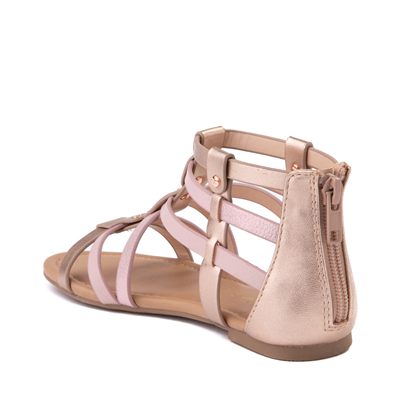 Alternate view of Sarah Jayne Pebbles Gladiator Sandal - Little Kid / Big Kid - Rose Gold