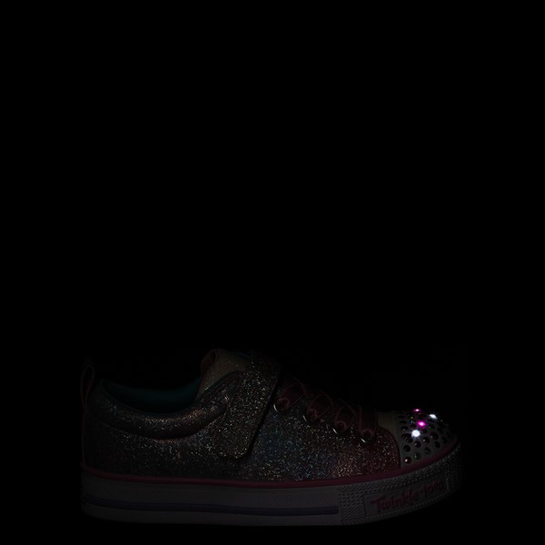 alternate view Skechers Twinkle Toes Shuffle Lites Sweet Supply Sneaker - Little Kid - Light Pink / MultiALT1