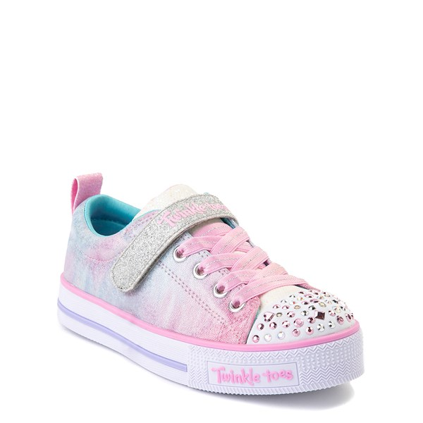alternate view Skechers Twinkle Toes Shuffle Lites Sweet Supply Sneaker - Little Kid - Light Pink / MultiALT1B