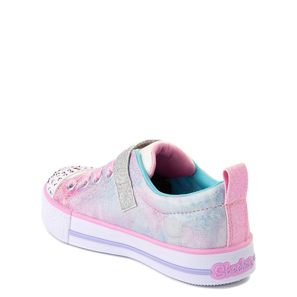 alternate view Skechers Twinkle Toes Shuffle Lites Sweet Supply Sneaker - Little Kid - Light Pink / MultiALT2