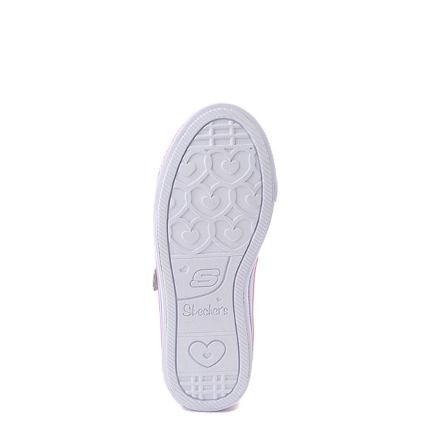 alternate view Skechers Twinkle Toes Shuffle Lites Sweet Supply Sneaker - Little Kid - Light Pink / MultiALT3