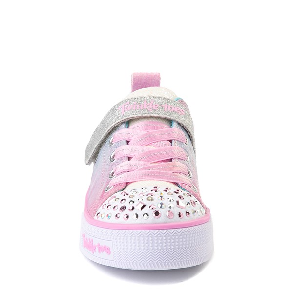alternate view Skechers Twinkle Toes Shuffle Lites Sweet Supply Sneaker - Little Kid - Light Pink / MultiALT4