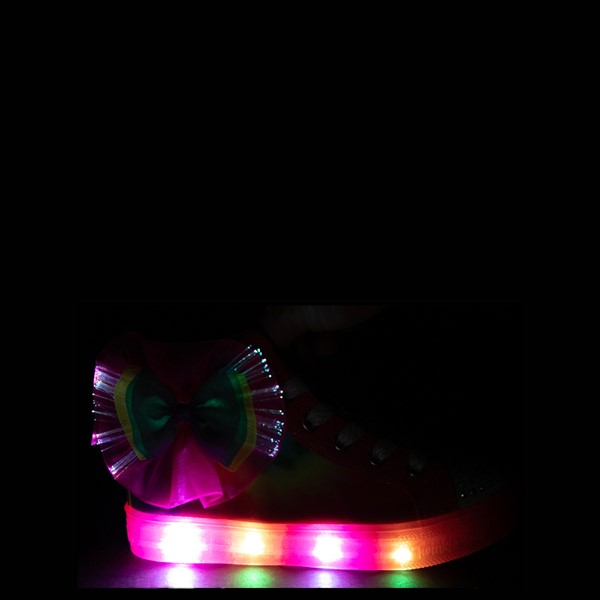 alternate view Skechers Twinkle Toes Shuffle Brights Neon - Little Kid - MultiALT1