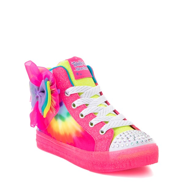 alternate view Skechers Twinkle Toes Shuffle Brights Neon - Little Kid - MultiALT1B