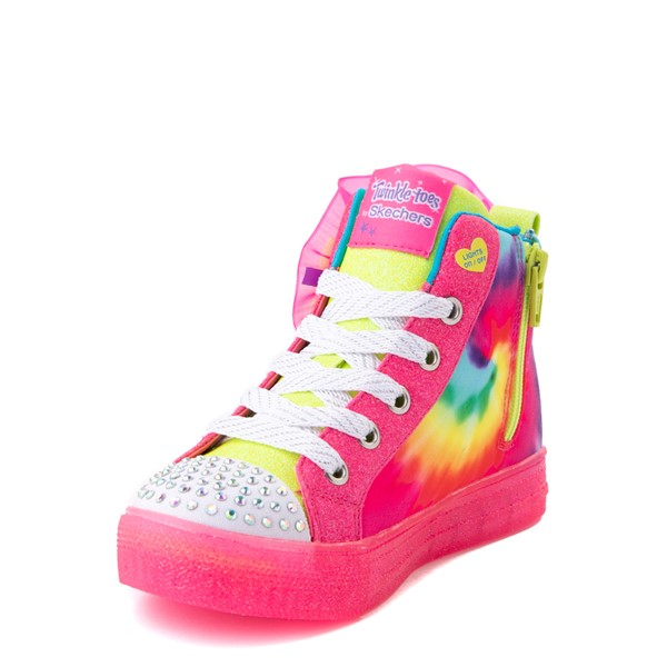 alternate view Skechers Twinkle Toes Shuffle Brights Neon - Little Kid - MultiALT3