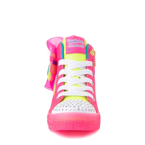 alternate view Skechers Twinkle Toes Shuffle Brights Neon - Little Kid - MultiALT4