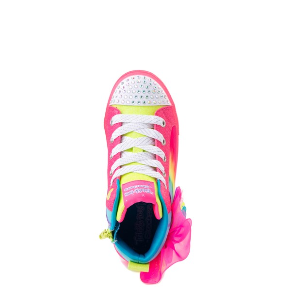 alternate view Skechers Twinkle Toes Shuffle Brights Neon - Little Kid - MultiALT4B