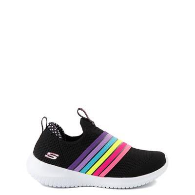 Main view of Skechers Ultra Flex Brightful Day Sneaker - Little Kid - Black / Multi