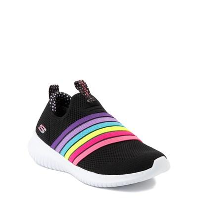Alternate view of Skechers Ultra Flex Brightful Day Sneaker - Little Kid - Black / Multi